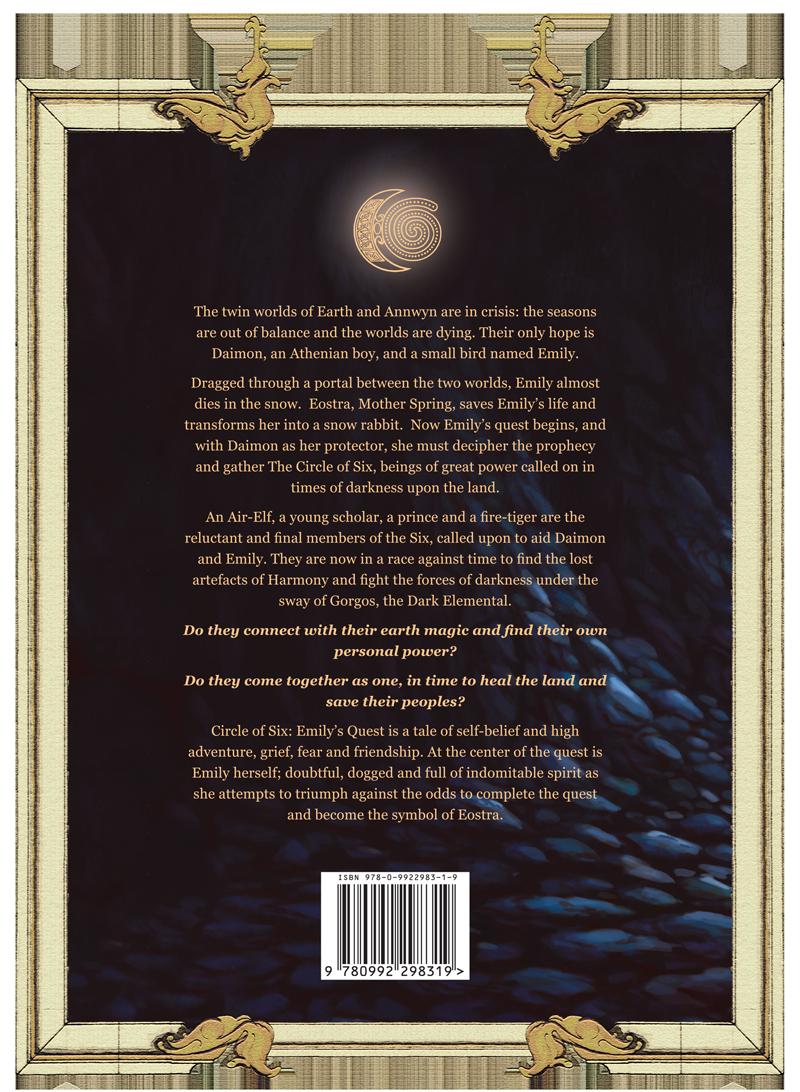 BACK cover of the Circle of Six Dan Sanders
