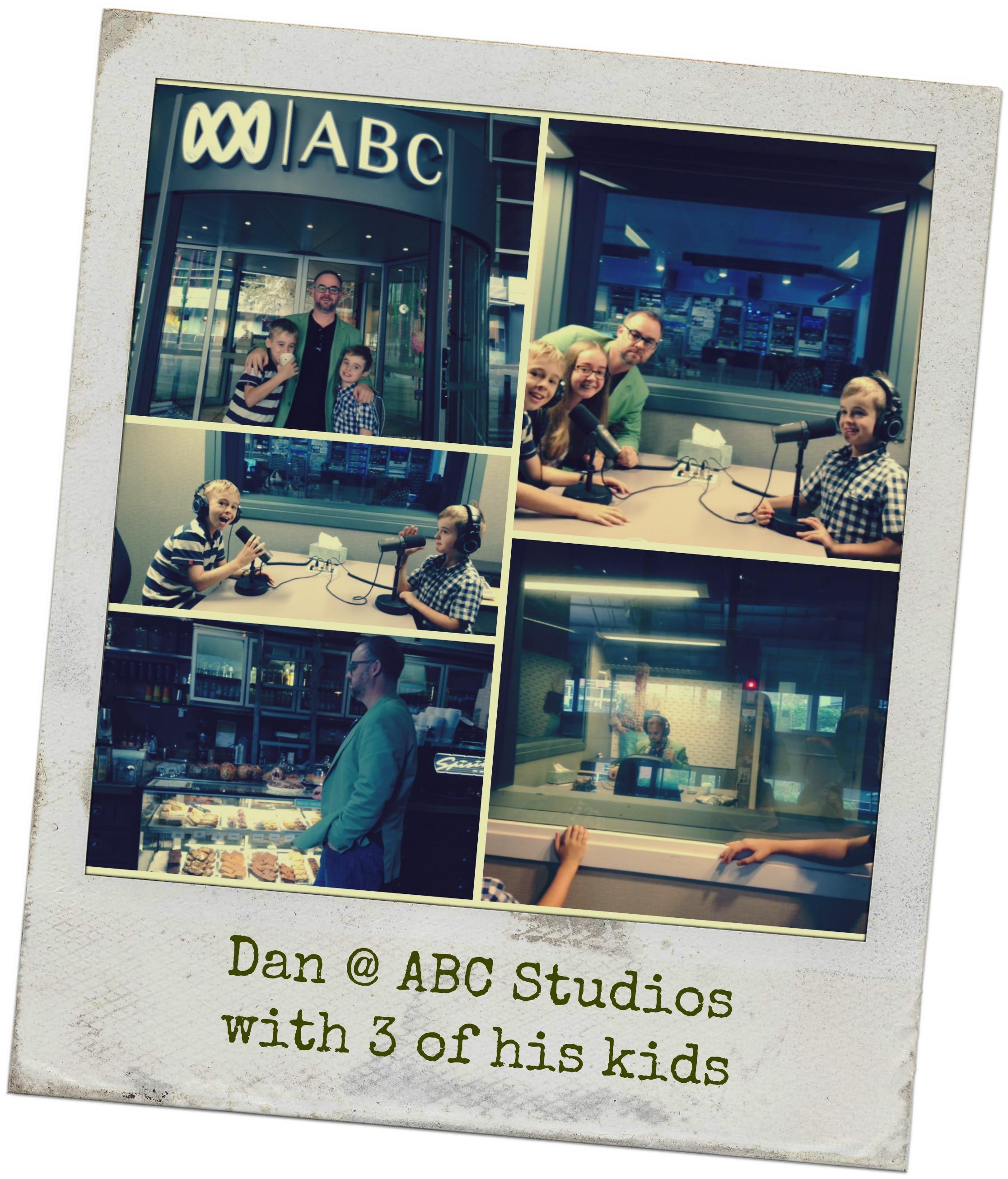Dan at the ABC studios