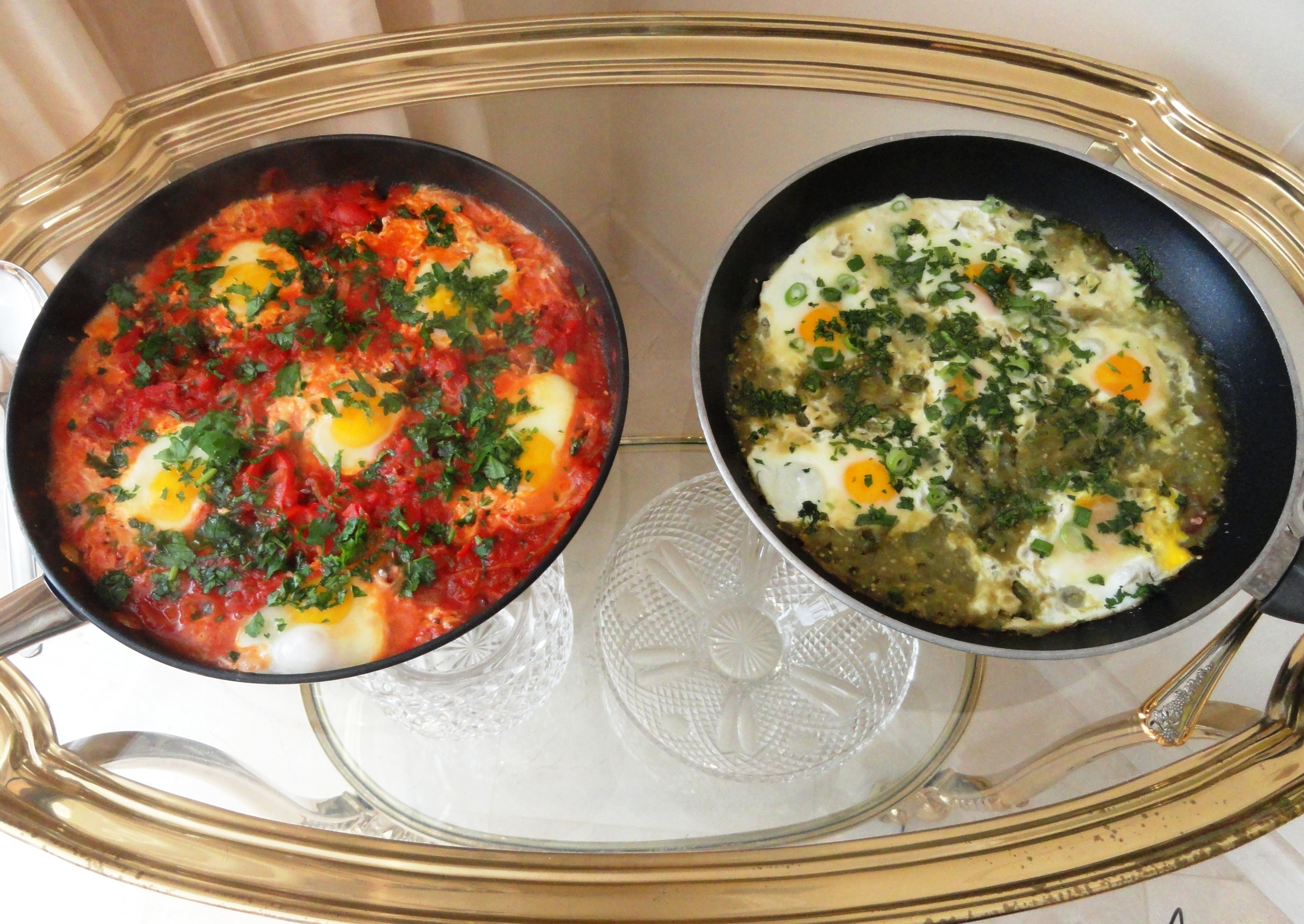 Red and green shakshuka overhead 2.JPG