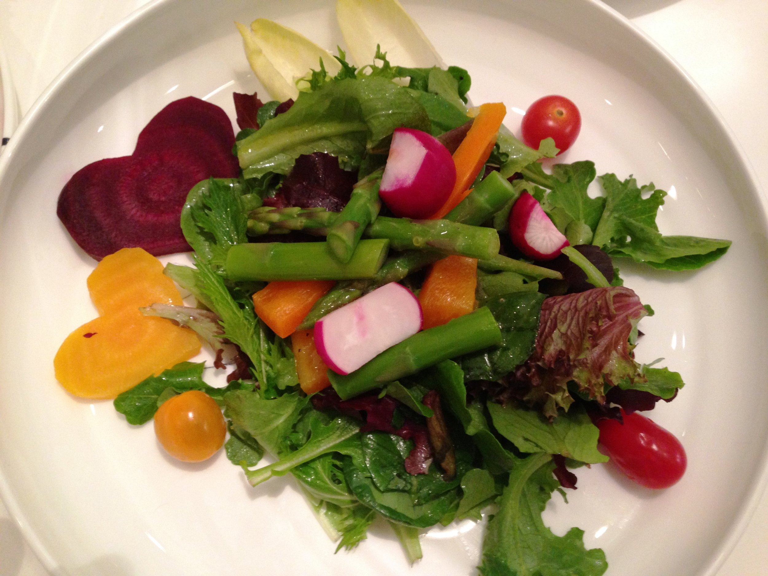 """Heartbeet"" salad for a client's Valentine's Dinner Party"