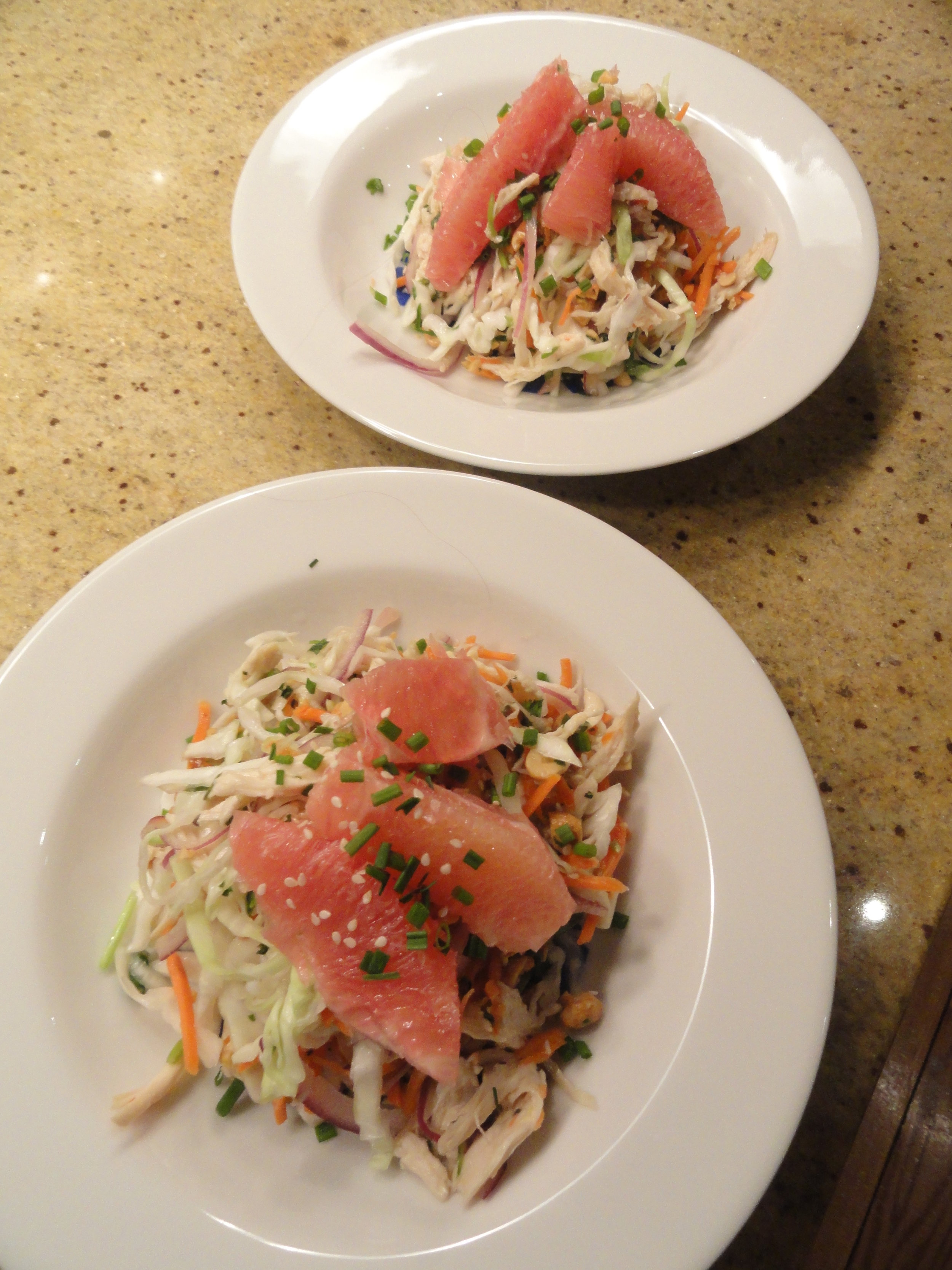Viet chicken cabbage grapefruit salads.JPG