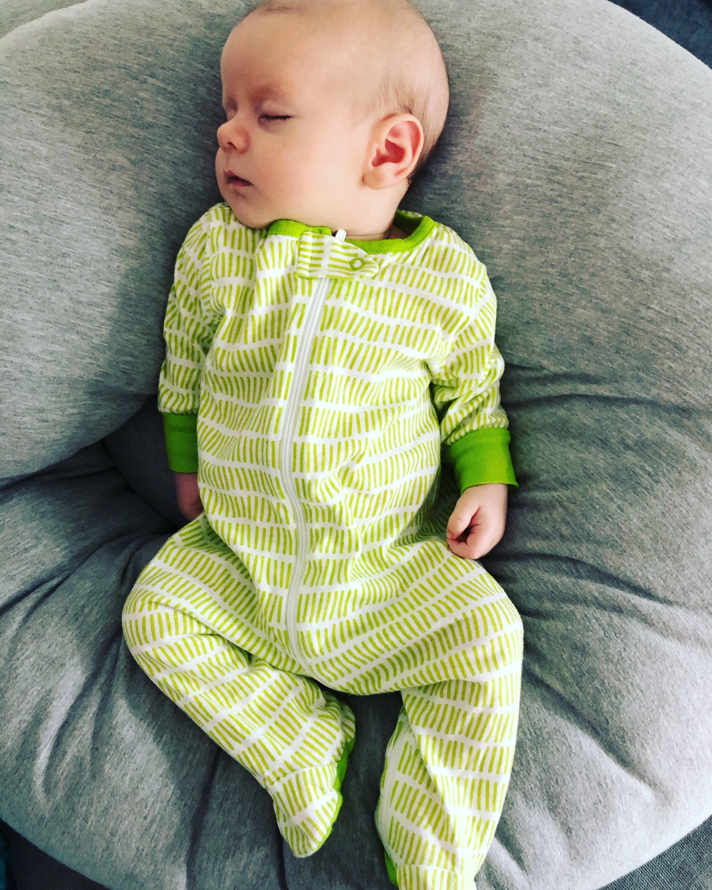 Noah lime green sleeping.JPG