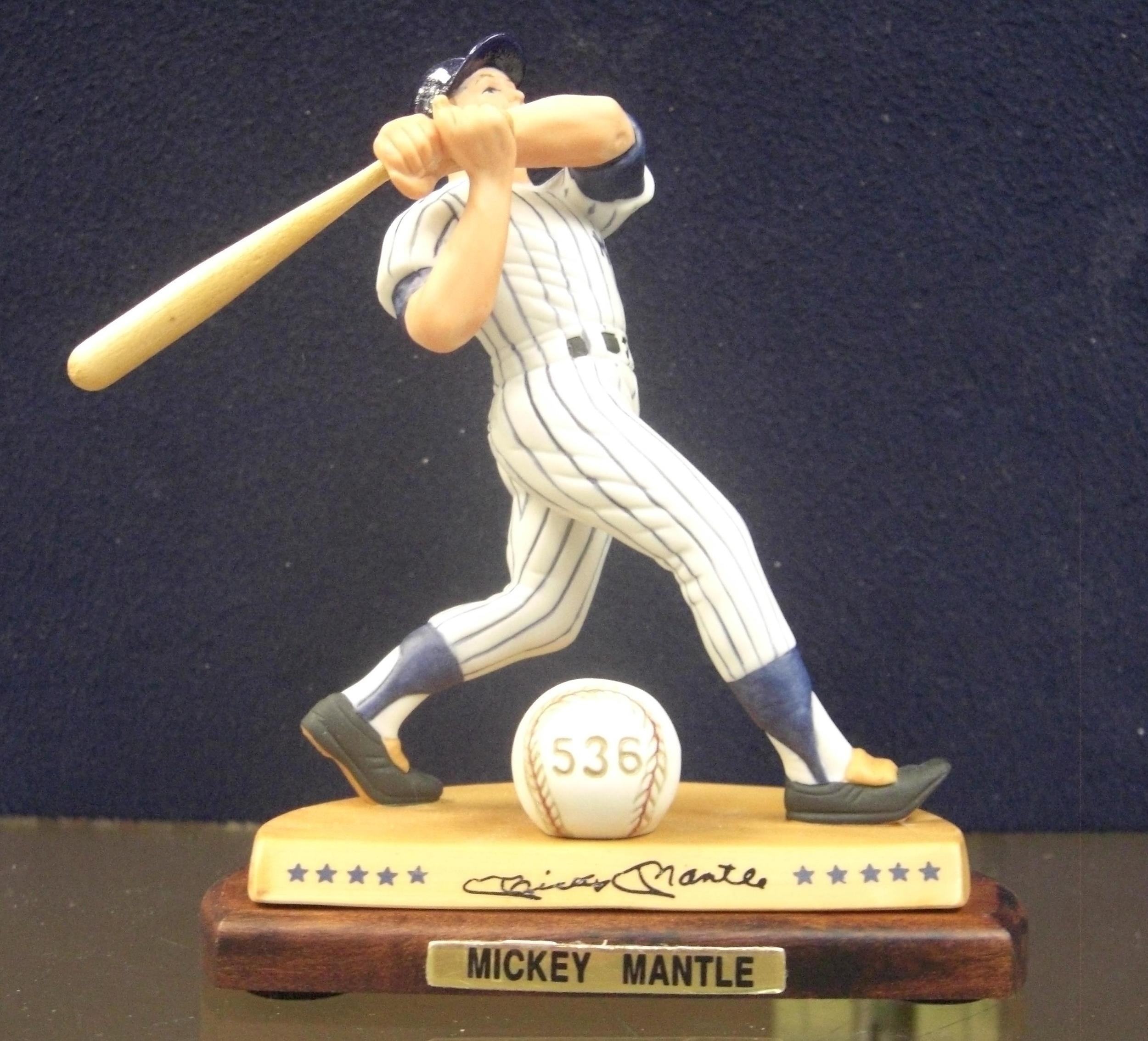 Mickey Mantle sports figurine.