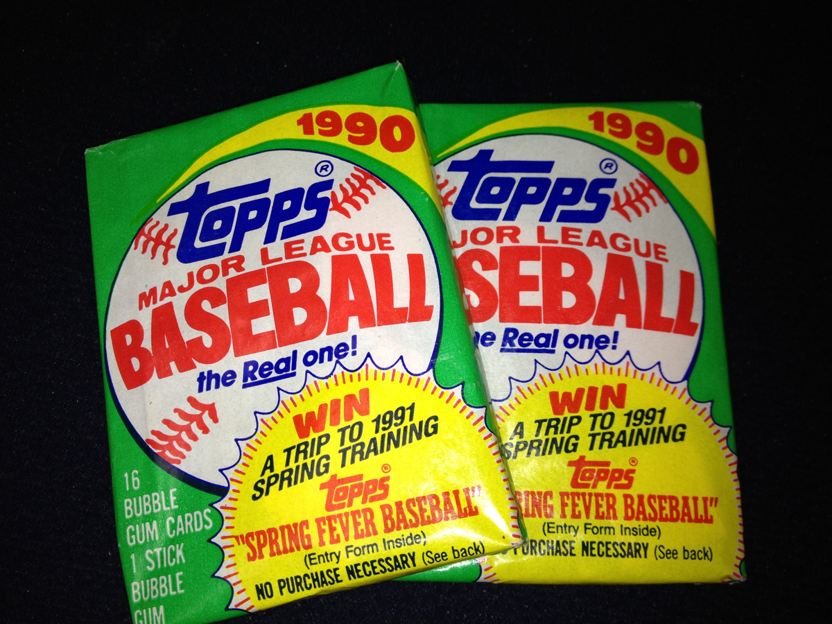 TOPPS 1990 Major League Baseball Bubble Gum Packs