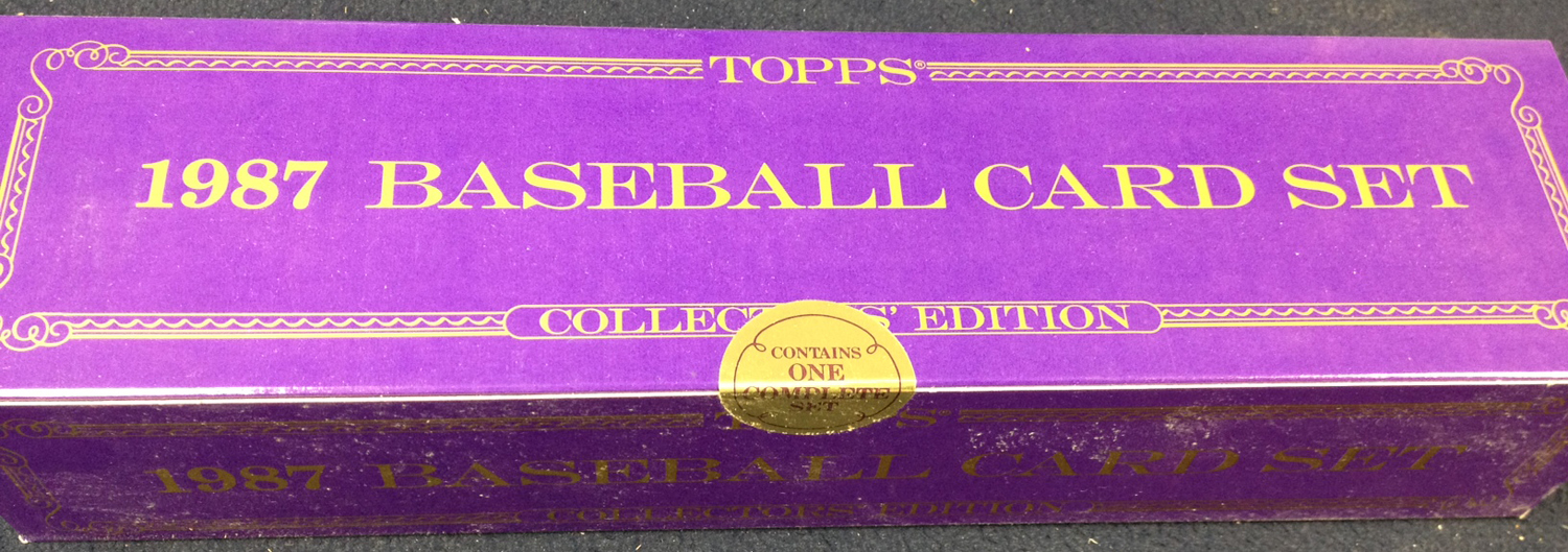 Unopened 1987 Topps Tiffany set.