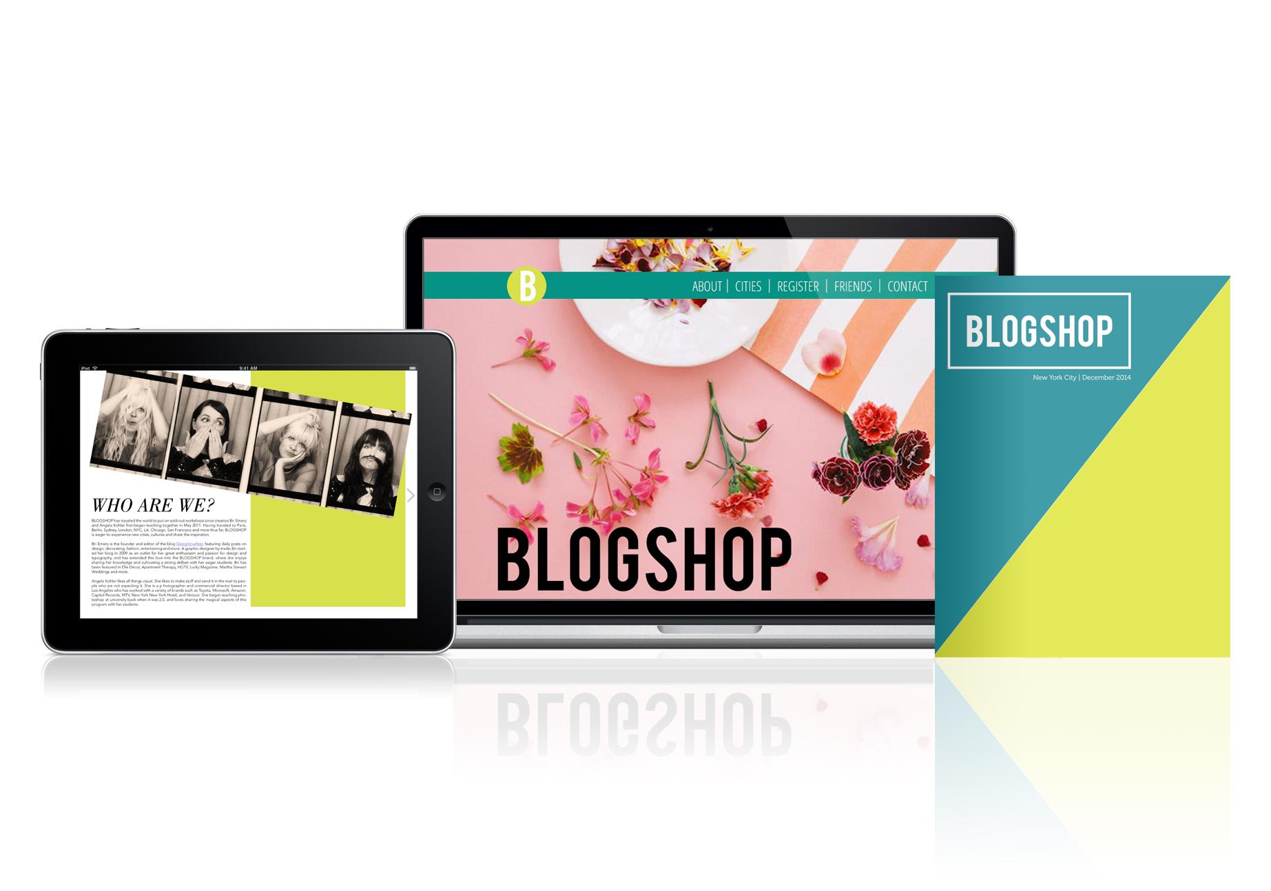 Blogshop e-publication, website, and print booklet.