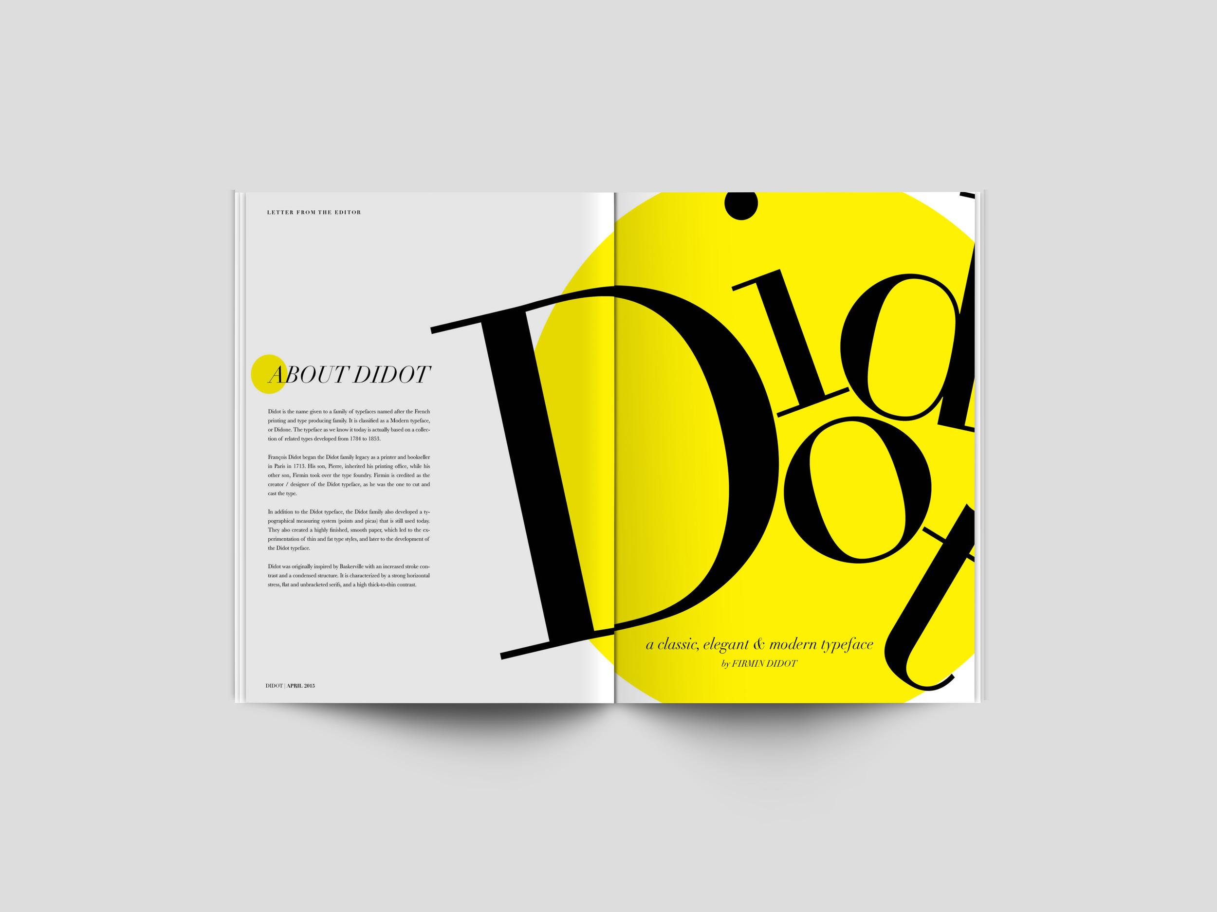 Didot type specimen book.