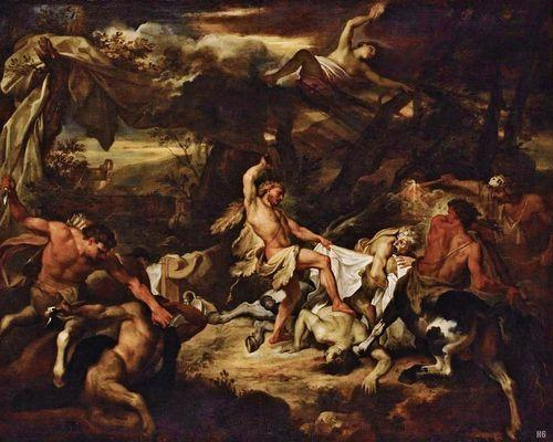 Hercules Fighting the Centaurs by Bon Boullogne, 1677