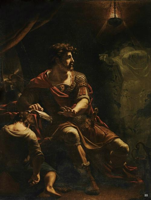 Brutus Disturbed by the Ghost of Caesar, attributed to Henry Tresham