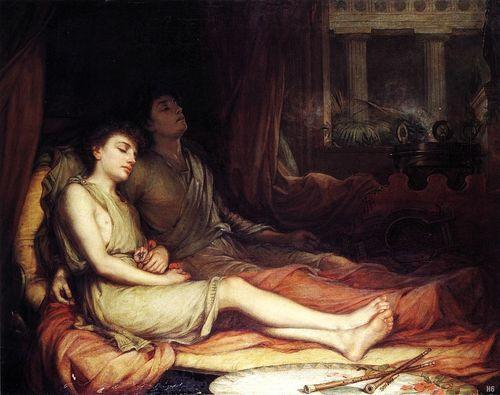 Hypnos and Thanatos / Sleep and his Half Brother Death by John William Waterhouse, 1874