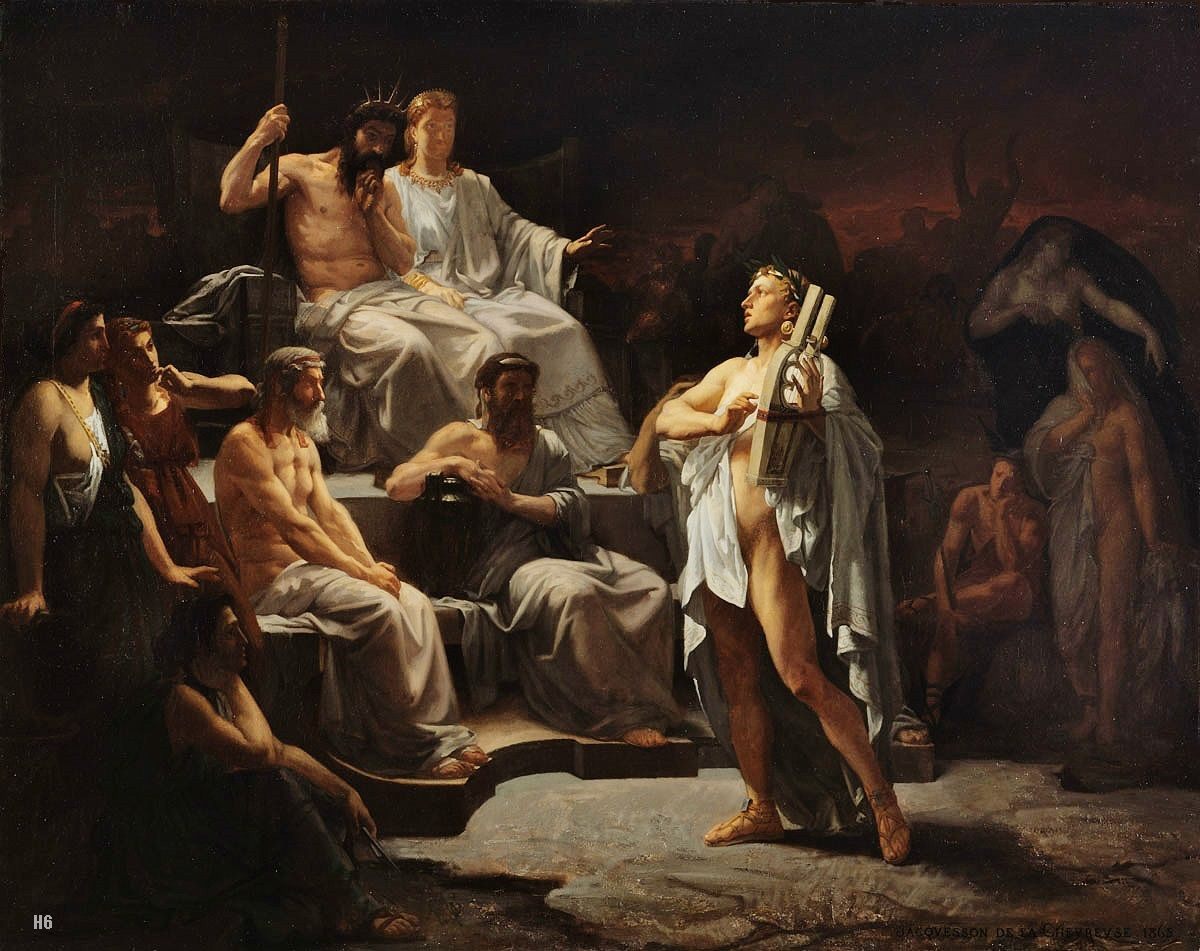 Orpheus in the Underworld by Jaquesson de la Chevreuse, 1863