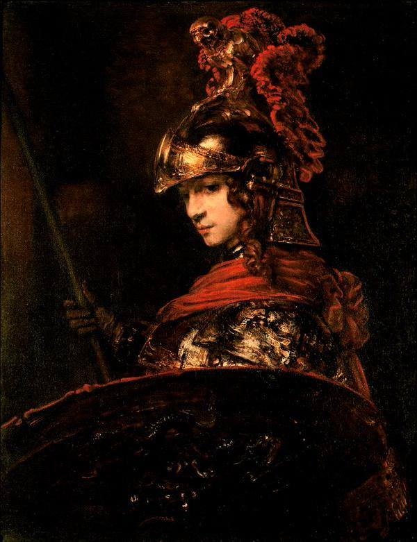 Pallas Athena by Rembrandt van Rijn, circa 1664