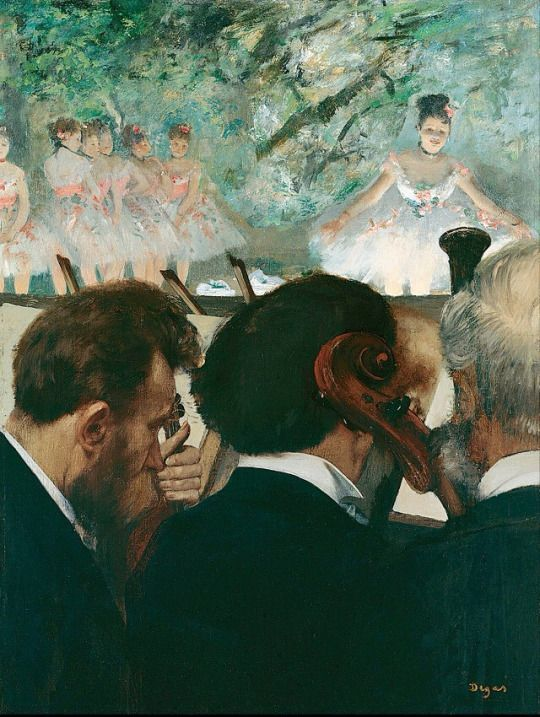Musicians in the Orchestra by Edgar Degas, 1872