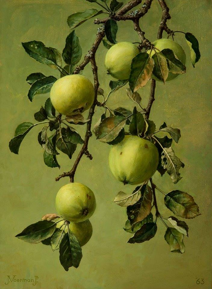 Apples on a Branch by Jan Voerman Jr., 1963