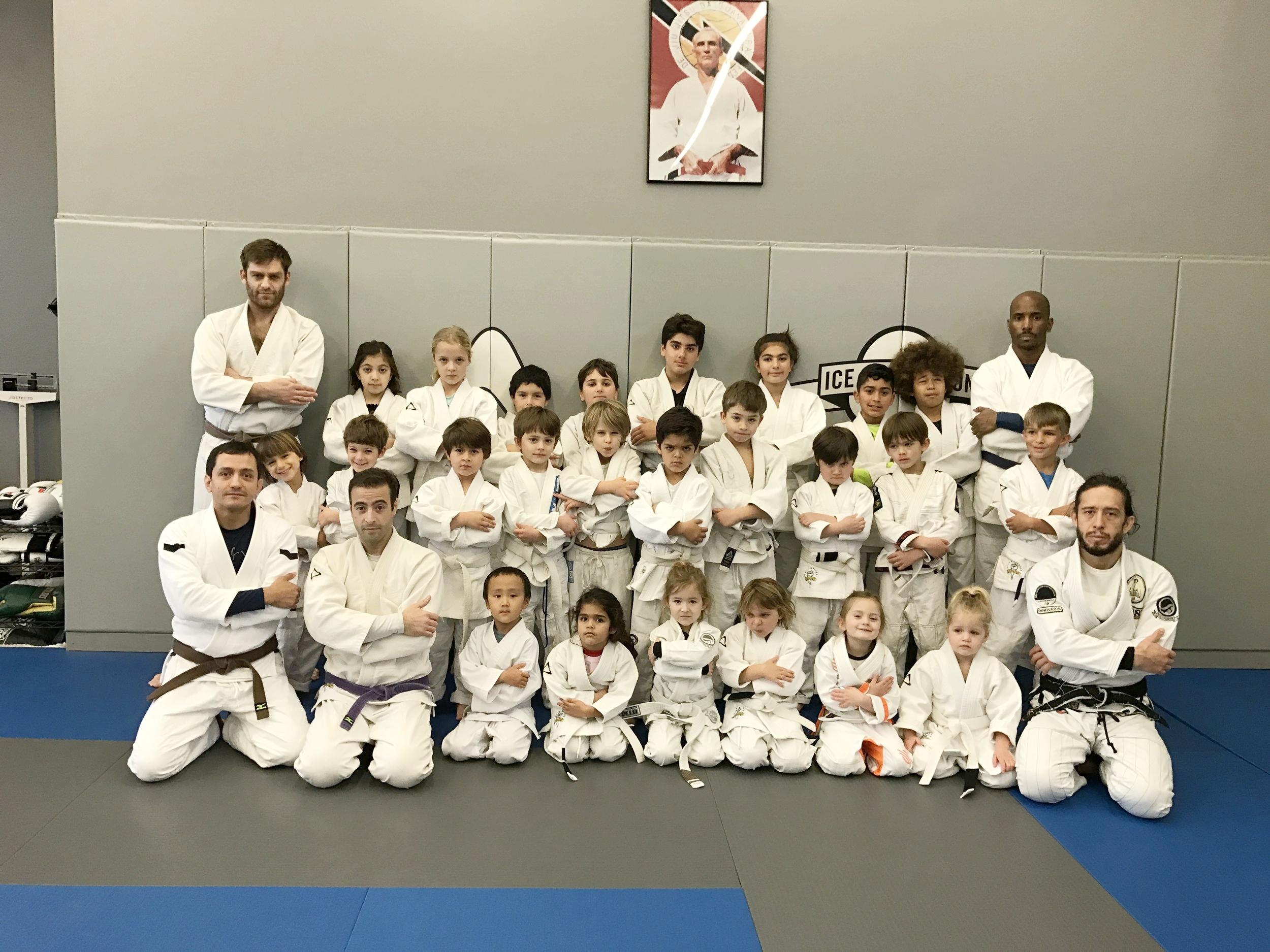 Kids class at Kron Gracie Jiu-Jitsu (serious faces)