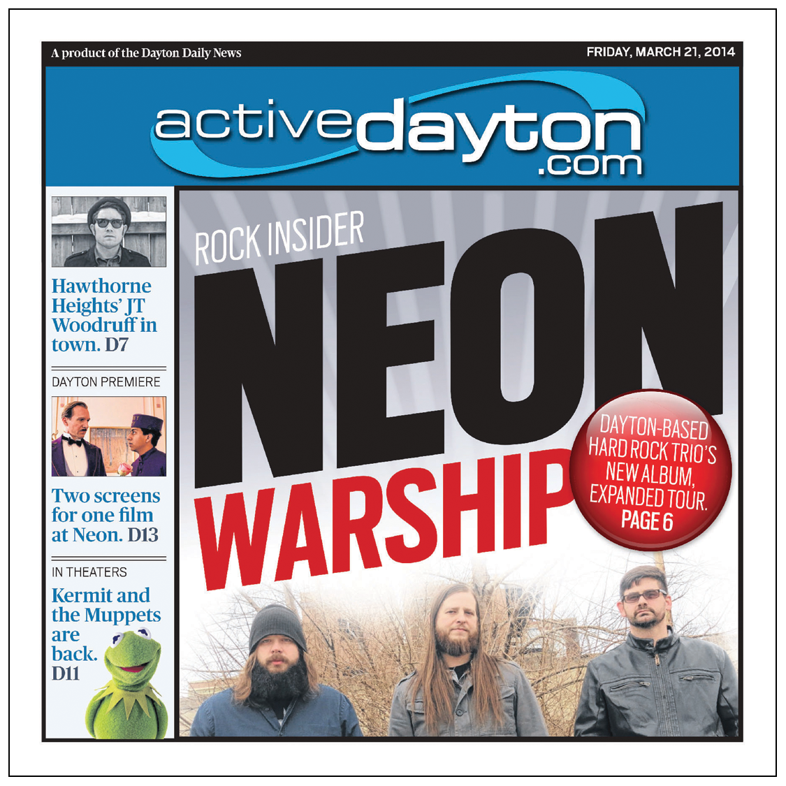 A pre-2015 ActiveDayton cover. This design attempted to put as much content on the cover as possible and in most cases, was far too much.