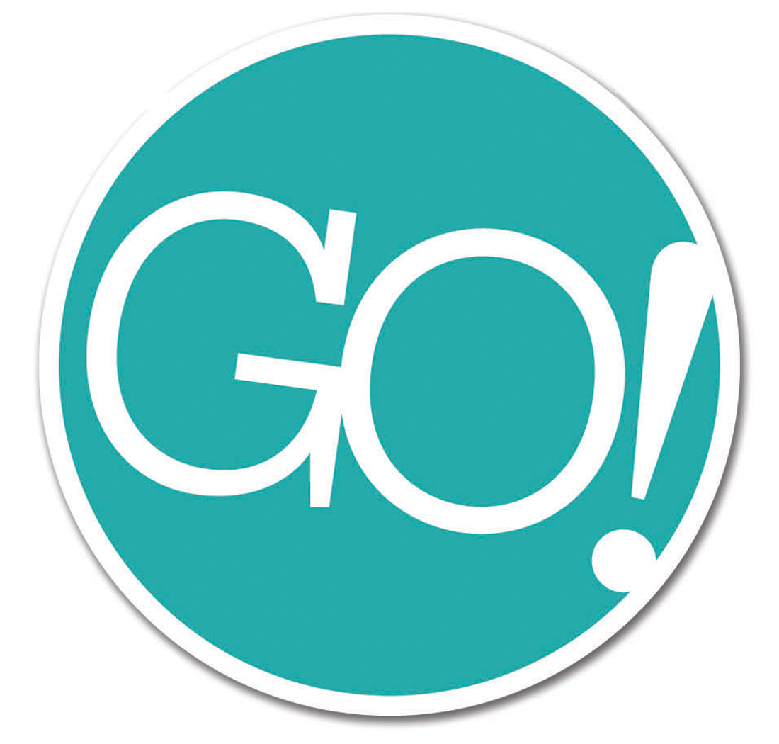 The current GO! logo was designed to be simplistic, allowing for more playful designs in a cleaner look.