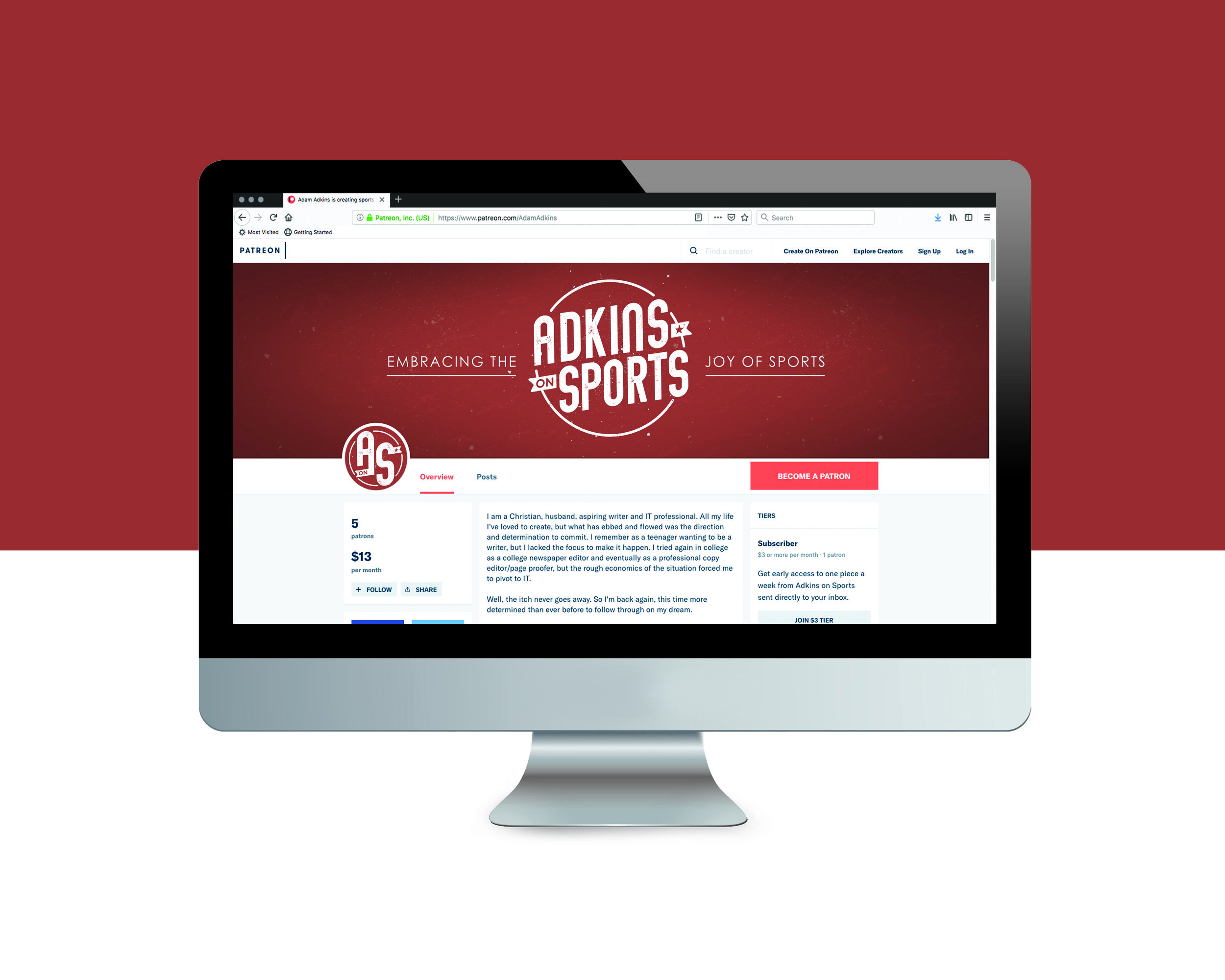 Adkins on Sports, a catch-all blog of the sporting world, has a fresh new look applied to their Wordpress, Patreon and social media sites.