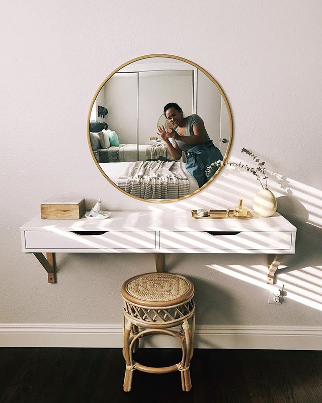 Prepping for Fall Season Tammy being a complete homebody. Also, consider this the first post of many to come of my new abode. 🏡 . . . #thatlightthough #ikeaikeaikea #vanityiwontuse #butitspretty #casadejammy