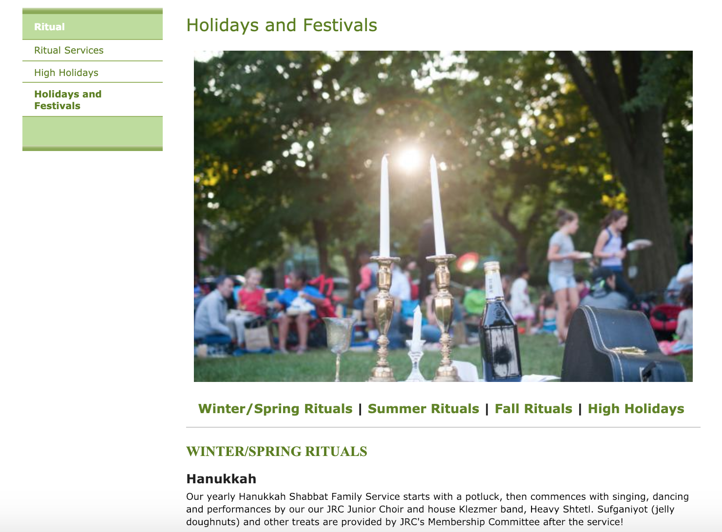 new holidays and festivals page