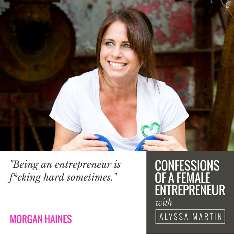 Finding your sweet spot with Morgan Haines on the Confessions of a Female Entrepreneur podcast #confessionspodcast