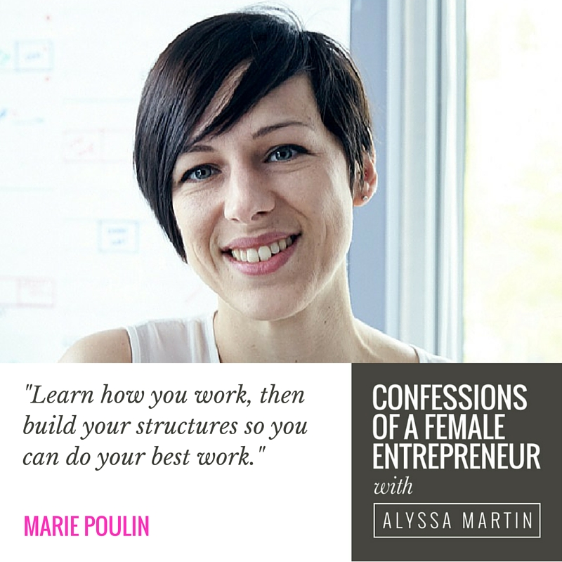 Making your own rules with Marie Poulin on the Confessions of a Female Entrepreneur podcast #confessionspodcast
