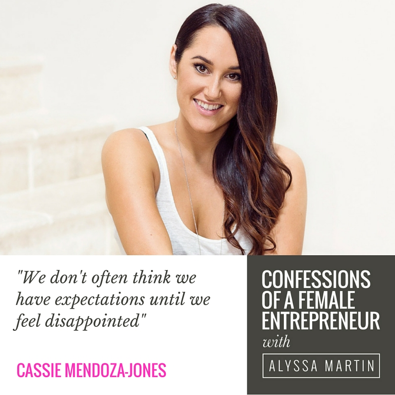 You are enough with Cassie Mendoza-Jones on the Confessions of a Female Entrepreneur podcast #confessionspodcast