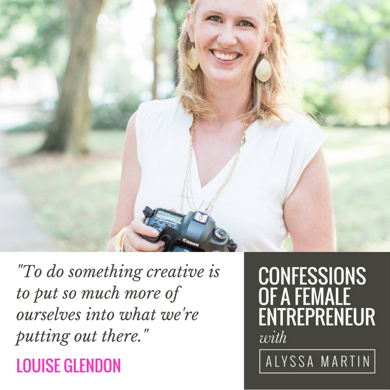 Creative confidence with Louise Glendon on the Confessions of a Female Entrepreneur podcast #confessionspodcast