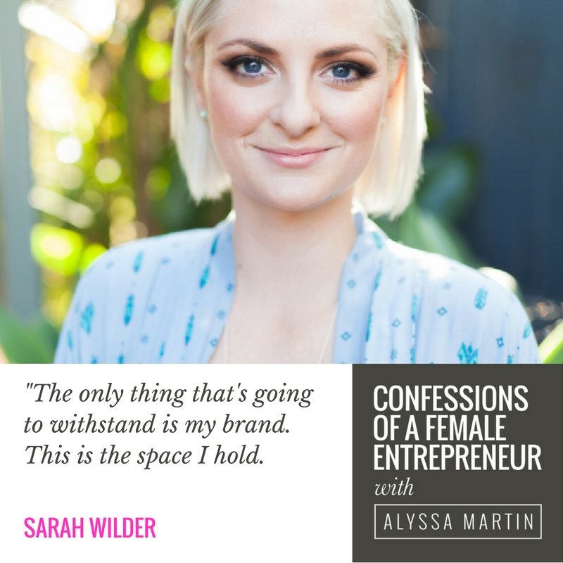 An untouchable niche with Sarah Wilder on the Confessions of a Female Entrepreneur podcast #confessionspodcast