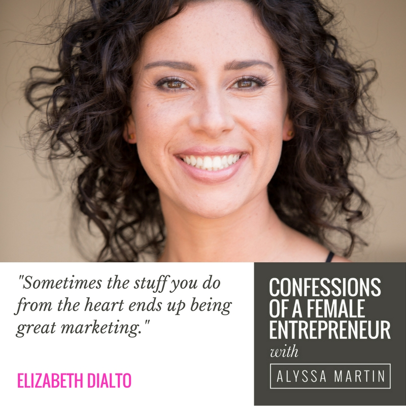 Creating space for inspiration with Elizabeth DiAlto on the Confessions of a Female Entrepreneur podcast #confessionspodcast