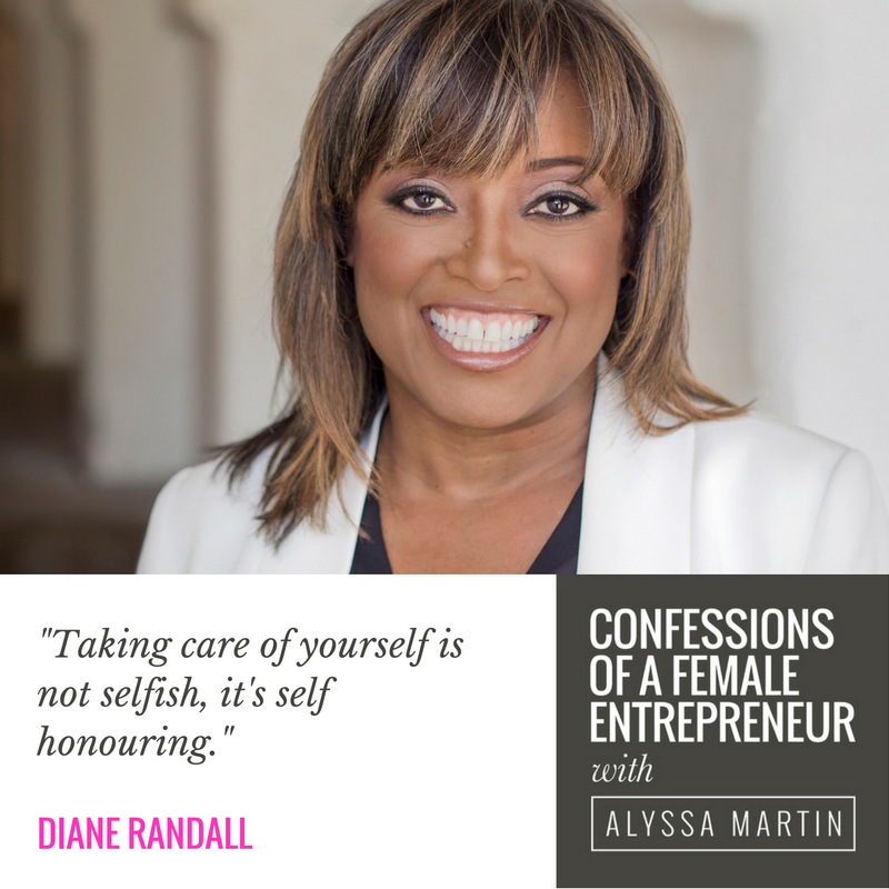 Perfection is a myth with Diane Randall on the Confessions of a Female Entrepreneur podcast #confessionspodcast