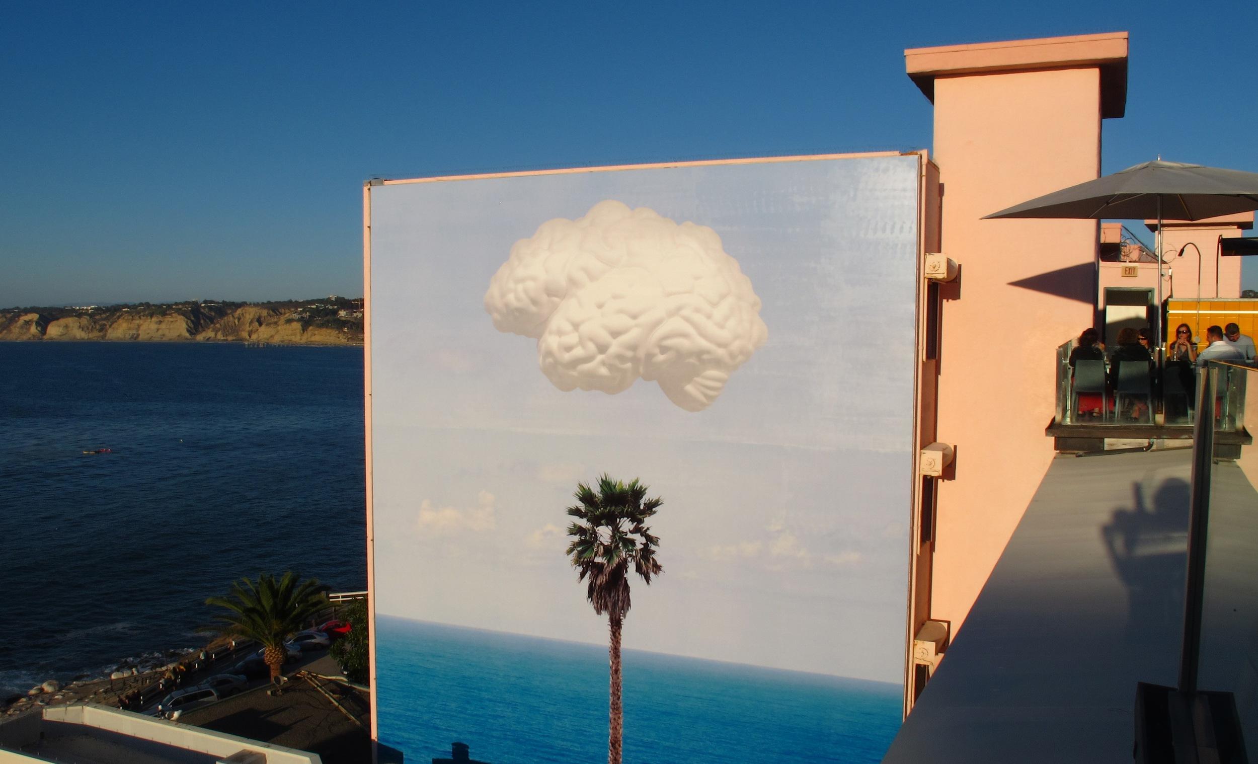 John Baldessari Brain Cloud mural in La Jolla, CA
