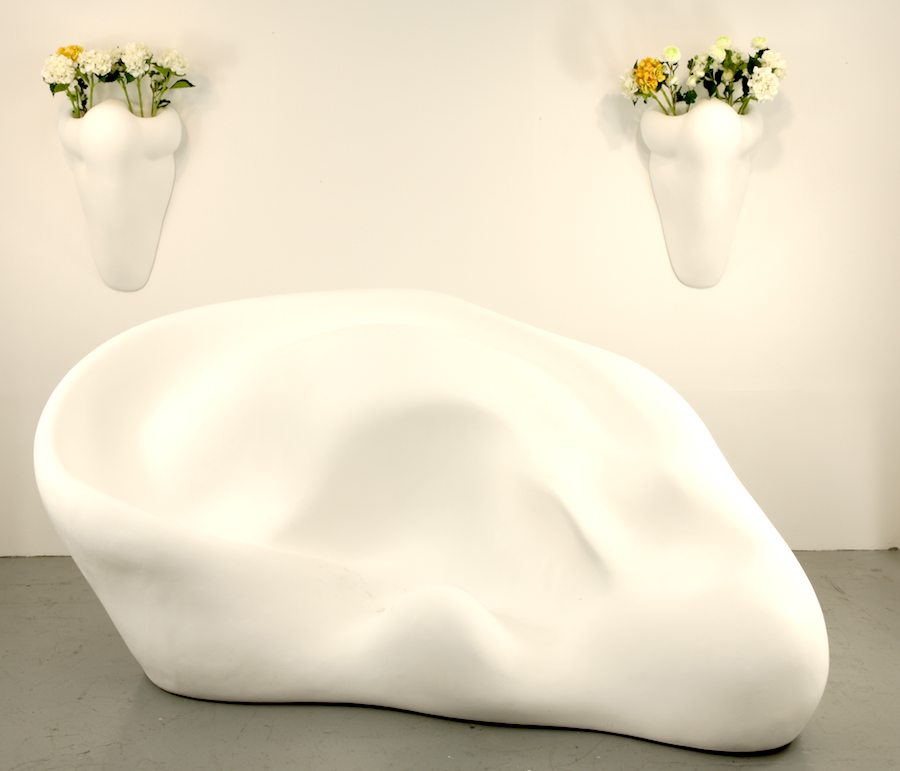 John Baldessari sculpture - Ear Sofa and Nose Sconce