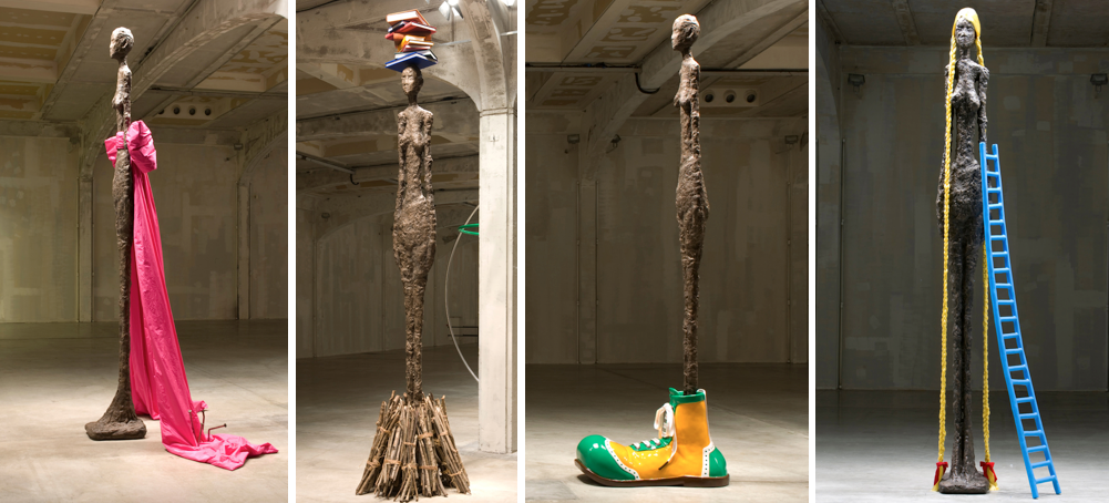 John Baldessari sculpture - Giacometti Variations - Prada Foundation