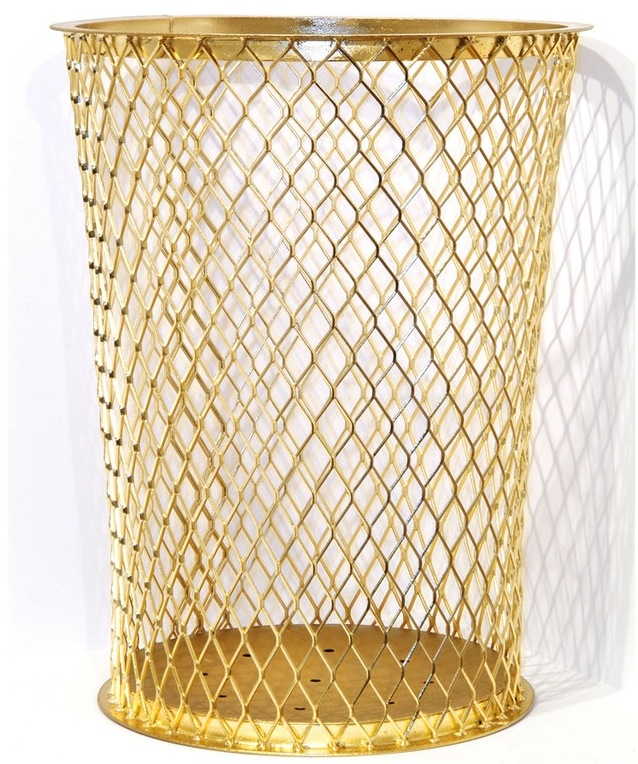 Sylvie Fleury Yes to All gold garbage bin.png