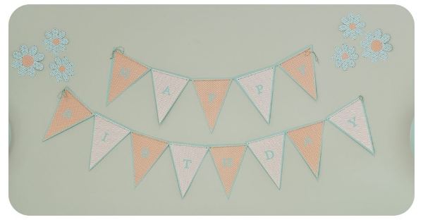 Birthday banner in keeping with the colour theme...
