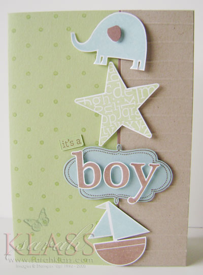 Stamps:    Nursery Necessities, Frames with a Flourish, Defining Alphabet, Polka Dot    Paper:    Certainly Celery, Baja Breeze, Close to Cocoa, Kraft, Whisper White    Ink:    Certainly Celery, Baja Breeze, Close to Cocoa    Accessories:    Bone Scorer, Paper Trimmer (for scored lines in Kraft), Stampin' Dimensionals