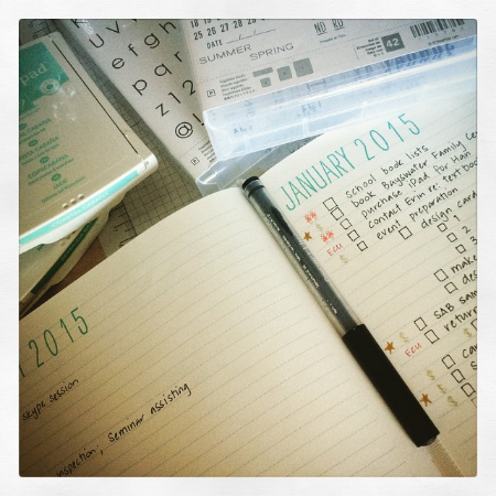 Nothing like a new year on the horizon to inspire a flurry of organisational activity!  #projectlife    #PLxSU