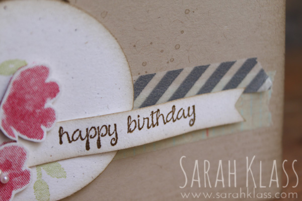 Some contrasting    Washi Tape    brings focus to the greeting