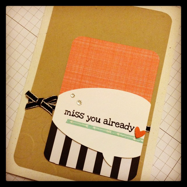 Heading to the airport shortly to farewell one of my fave young peeps on a new adventure. Hey NZ, look after my niece now, y'hear...?!#stampinup#stampinupaustralia#somethinginmyeye