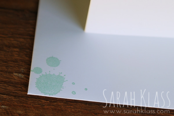 The note cards include an envelope - why not stamp it to match..?!
