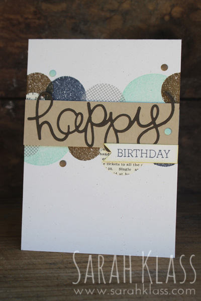 "Stamps:   Crazy About You, Daydream Medallions, Kind & Cosy, Hello There (last three only used for the circular 'leftovers'!)   Paper:   Naturals White, Crumb Cake, Early Espresso, Typset Specialty DSP   Ink:   Pool Party, Soft Suede, Night of Navy   Accessories:   Hello You Thinlits, 1-3/8"" Circle Punch, 3/4"" Circle Punch, Subtles Candy Dots, Neutrals Candy Dots, Stampin' Dimensionals"