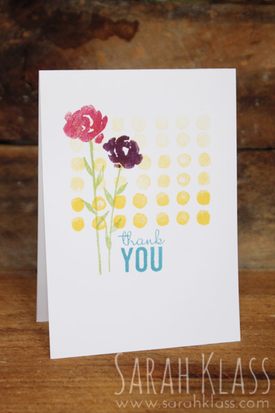 Stamps:   Painted Petals   Paper:   Whisper White   Ink:   Daffodil Delight, WIld Wasabi, Rose Red, Blackberry Bliss, Pacific Point