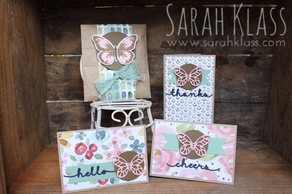 The    Brick Wall Embossing Folder    adds great texture and interest to the bag and the    note cards and envelopes    are popped inside for a sweet and simple gift idea