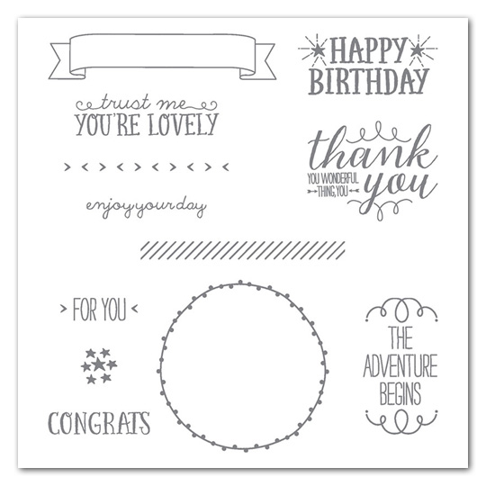 You're So Lovely Photopolymer Stamp Set  - 140762 - $30