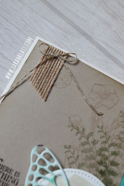 TIny touches of texture - some   Burlap Ribbon   and   Linen Thread   add some monochromatic texture to a bare spot