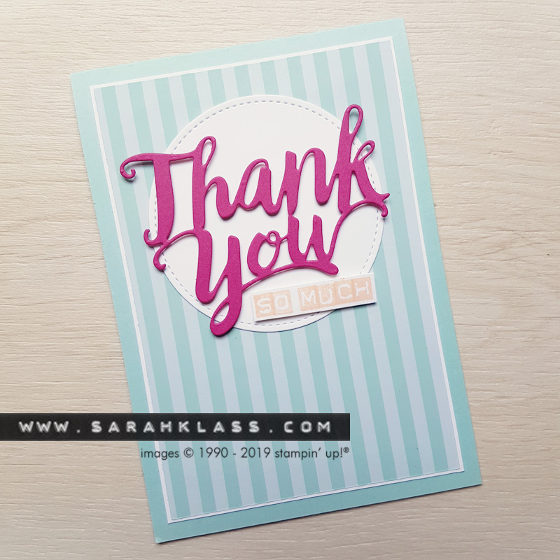 Simple die-cut thank you | www.sarahklass.com
