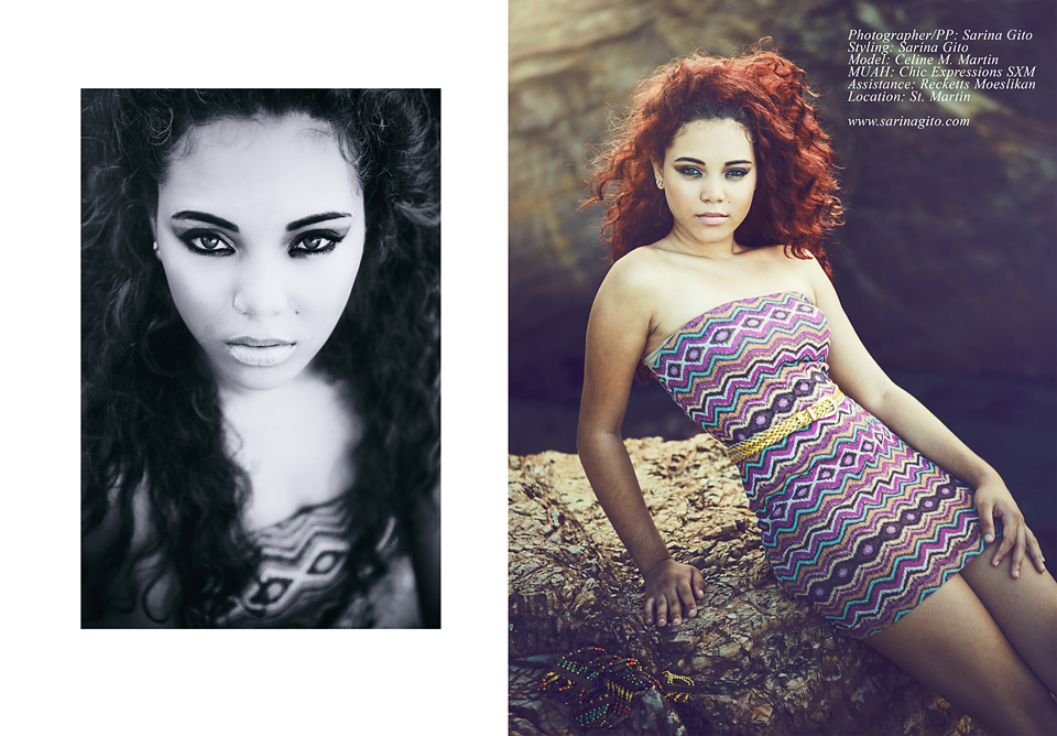 Photographer/PP: Sarina Gito / MUAH: Rogelia Euson / Model: Celine M / Assistance: Recketts Moeslikan / Location: Saint Martin FWI