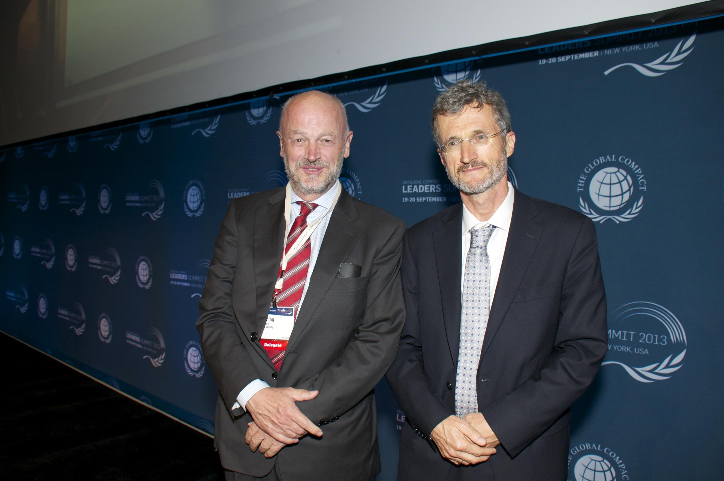 From left: Flemming Borreskov and Georg Kell  Foto: Irene Hell