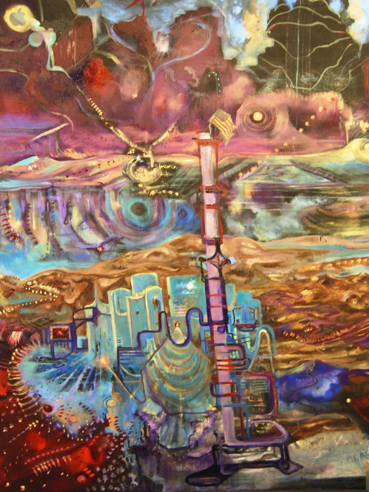1.) Miner City.JPG 52%22x76%22 2010 Oil on Canvas.JPG